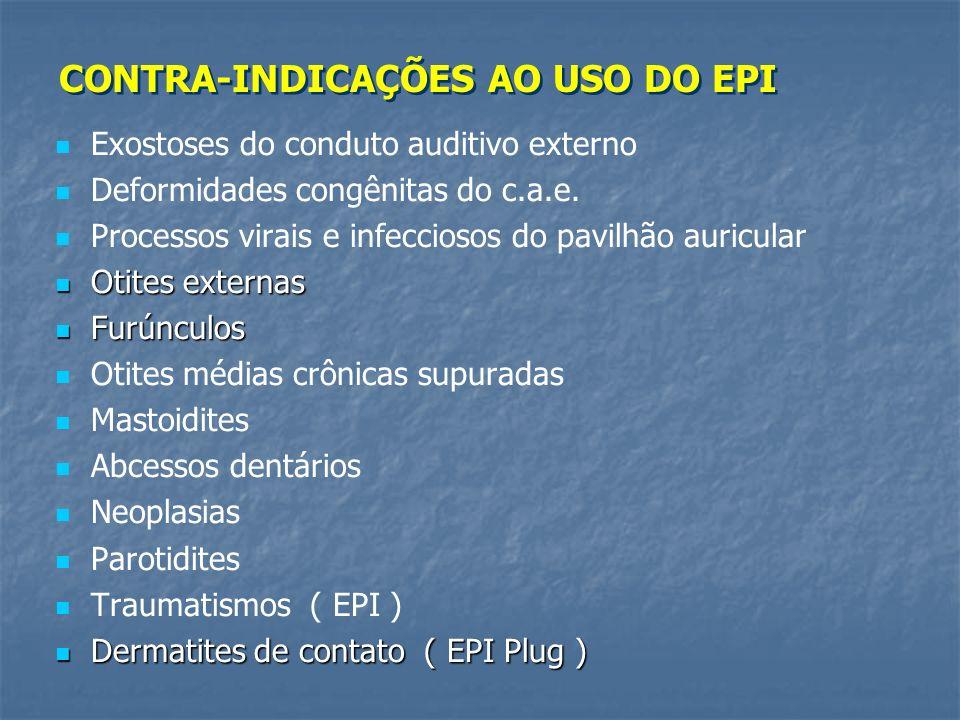 CONTRA-INDICAÇÕES AO USO DO EPI