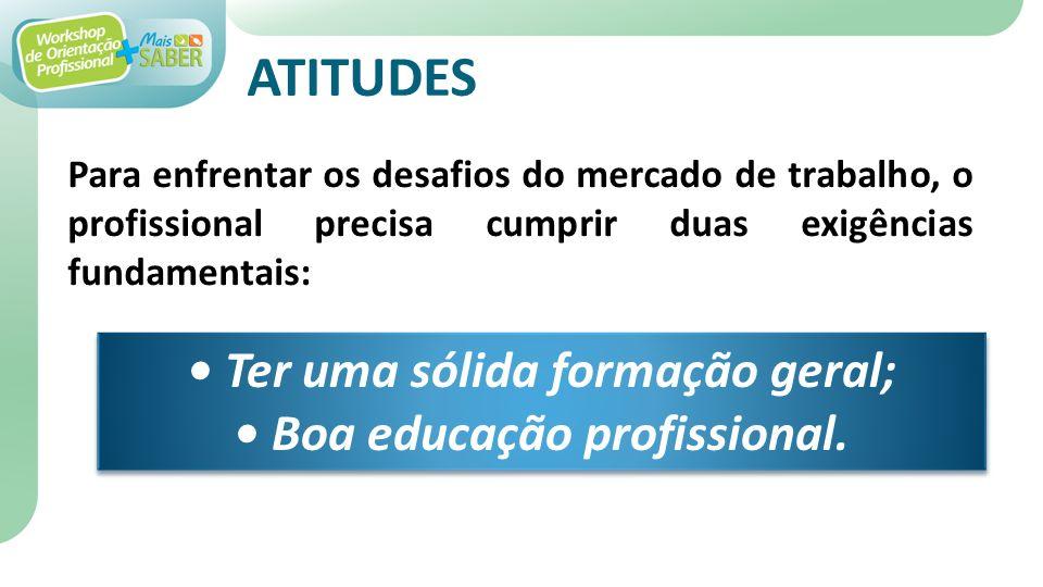 • Ter uma sólida formação geral; • Boa educação profissional.