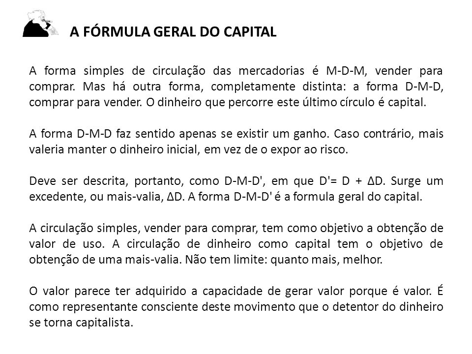 a fórmula geral do capital