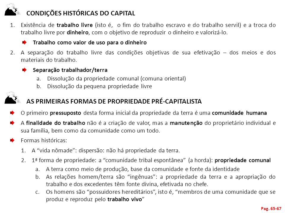 Condições Históricas do Capital