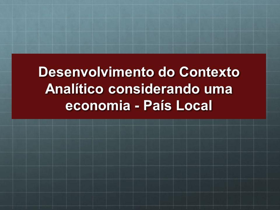 Desenvolvimento do Contexto Analítico considerando uma economia - País Local