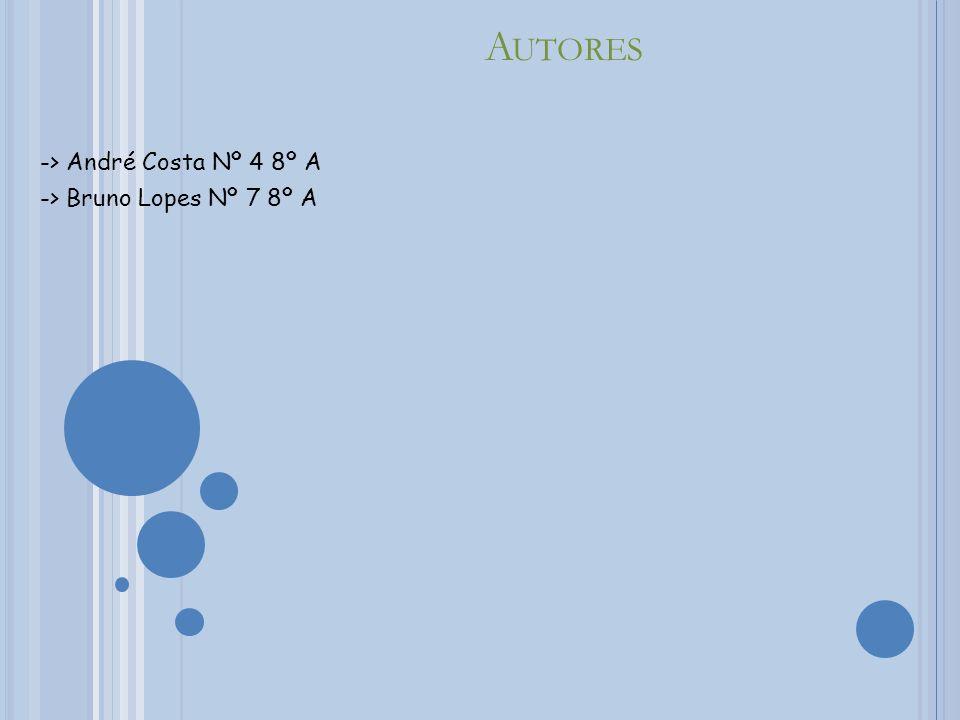 -> André Costa Nº 4 8º A -> Bruno Lopes Nº 7 8º A
