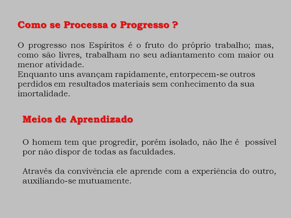 Como se Processa o Progresso