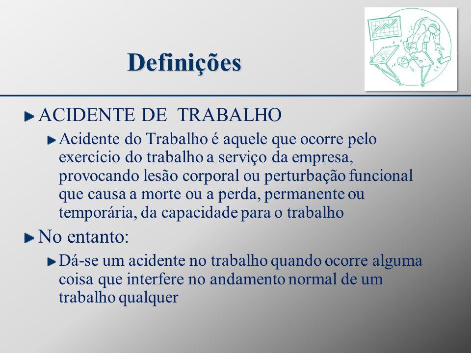 Definições ACIDENTE DE TRABALHO No entanto:
