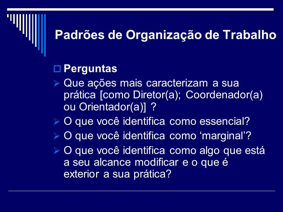 Padrões de Organização de Trabalho