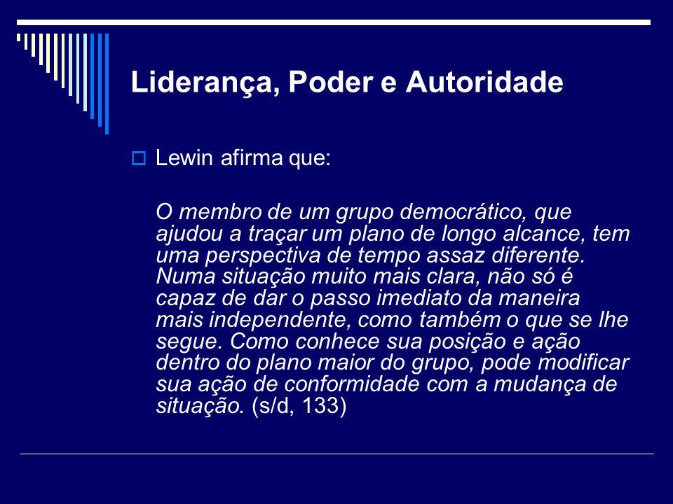 Liderança, Poder e Autoridade