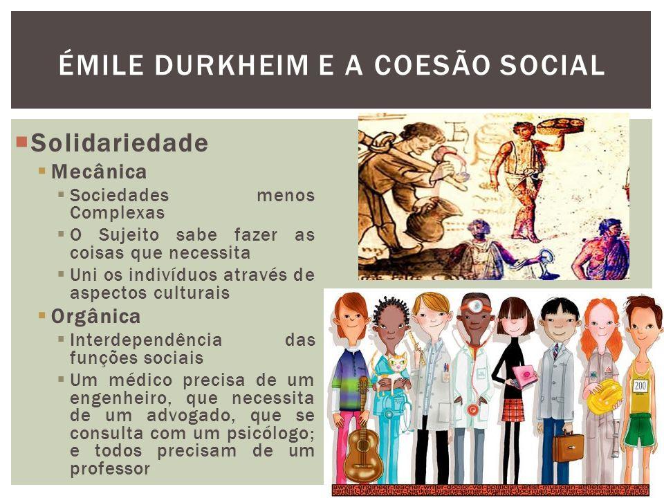 Émile Durkheim e a coesão social