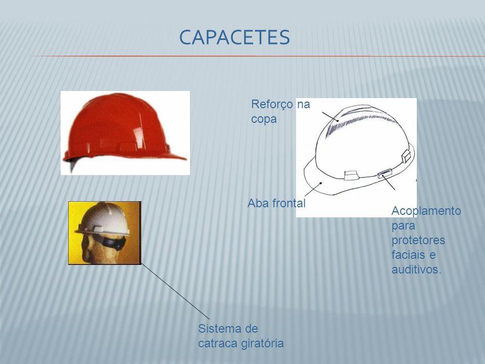 CAPACETES Reforço na copa Aba frontal Acoplamento para