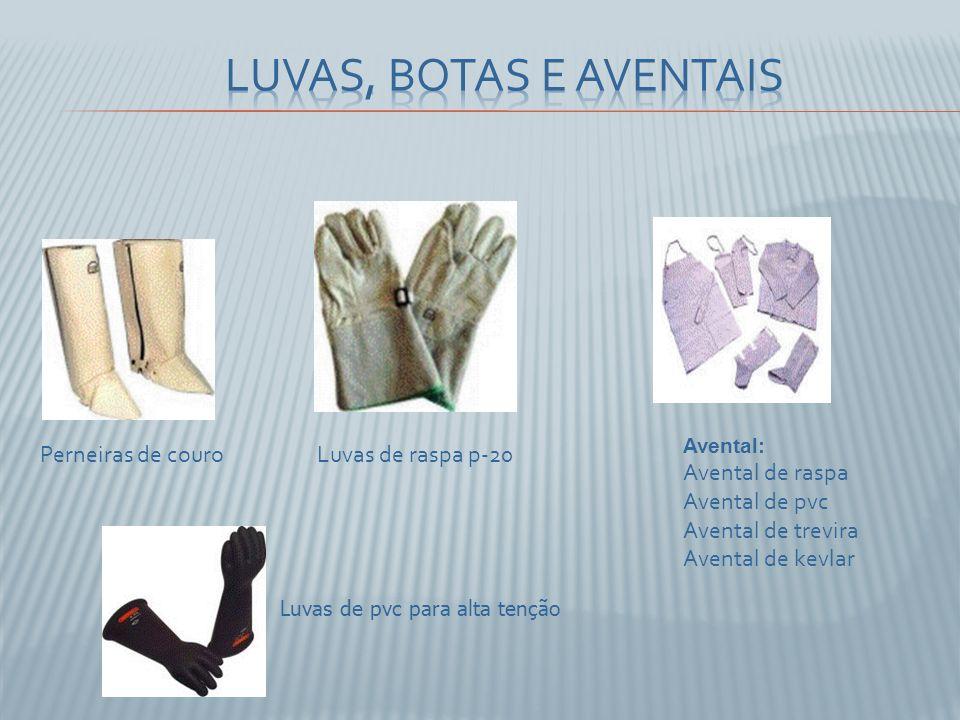 Luvas, botas e aventais Perneiras de couro Luvas de raspa p-20