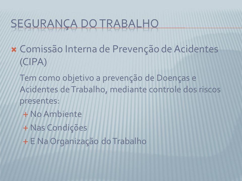 Segurança do Trabalho Comissão Interna de Prevenção de Acidentes (CIPA)