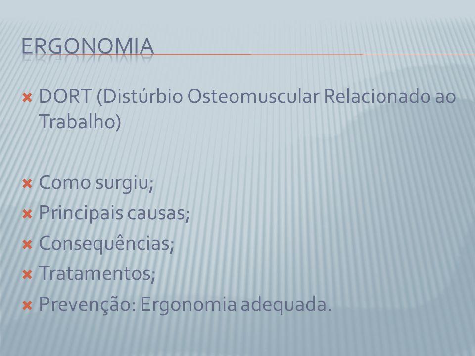 Ergonomia DORT (Distúrbio Osteomuscular Relacionado ao Trabalho)