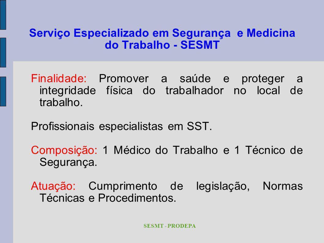 Serviço Especializado em Segurança e Medicina do Trabalho - SESMT