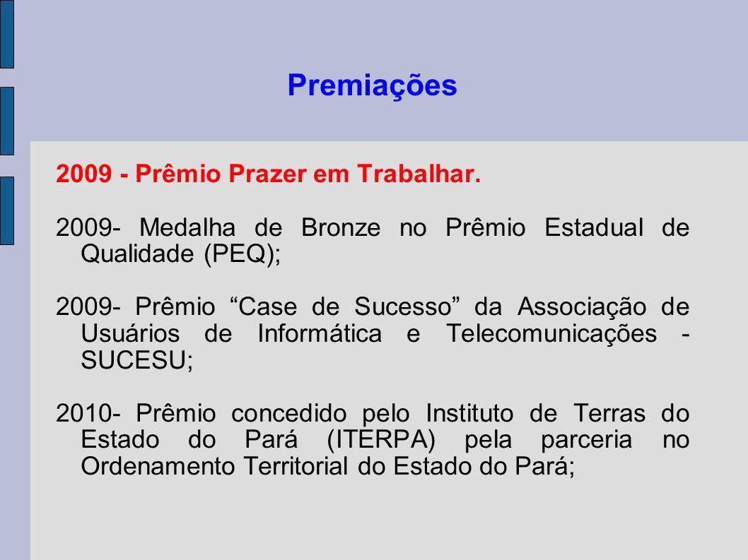 Premiações 2009 - Prêmio Prazer em Trabalhar.