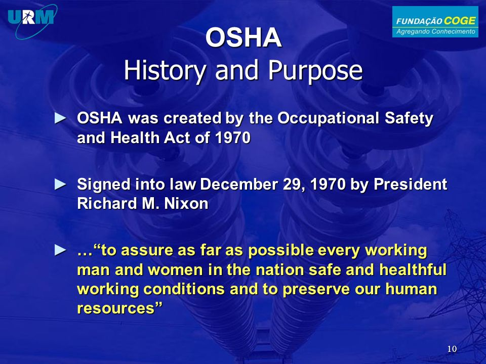 OSHA History and Purpose
