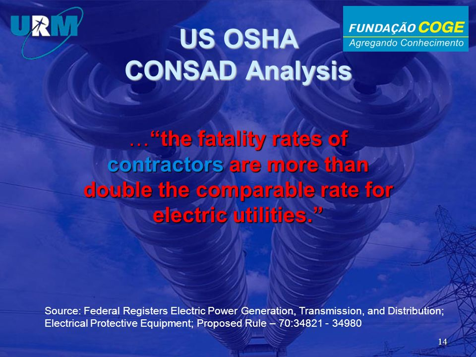 US OSHA CONSAD Analysis