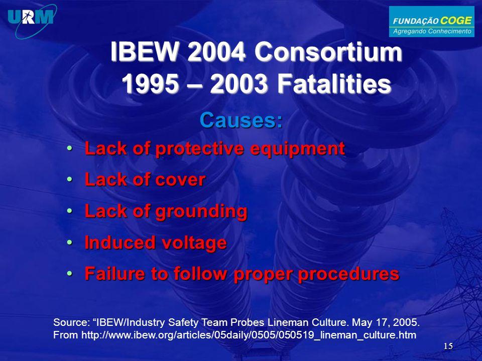IBEW 2004 Consortium 1995 – 2003 Fatalities