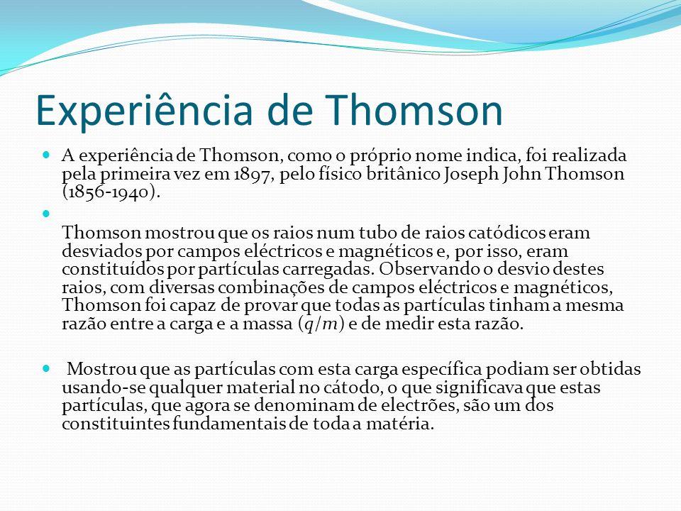 Experiência de Thomson