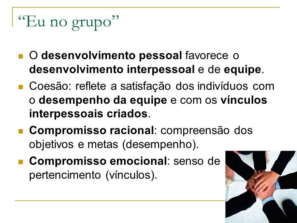 Eu no grupo O desenvolvimento pessoal favorece o desenvolvimento interpessoal e de equipe.