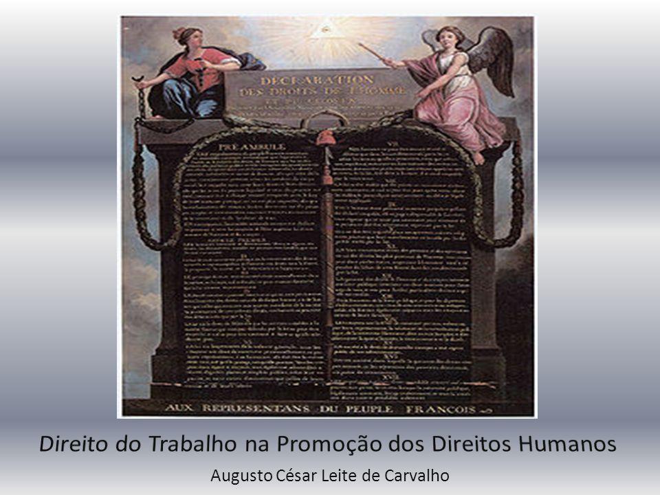 Direito do Trabalho na Promoção dos Direitos Humanos