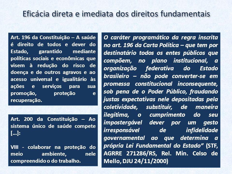 Eficácia direta e imediata dos direitos fundamentais