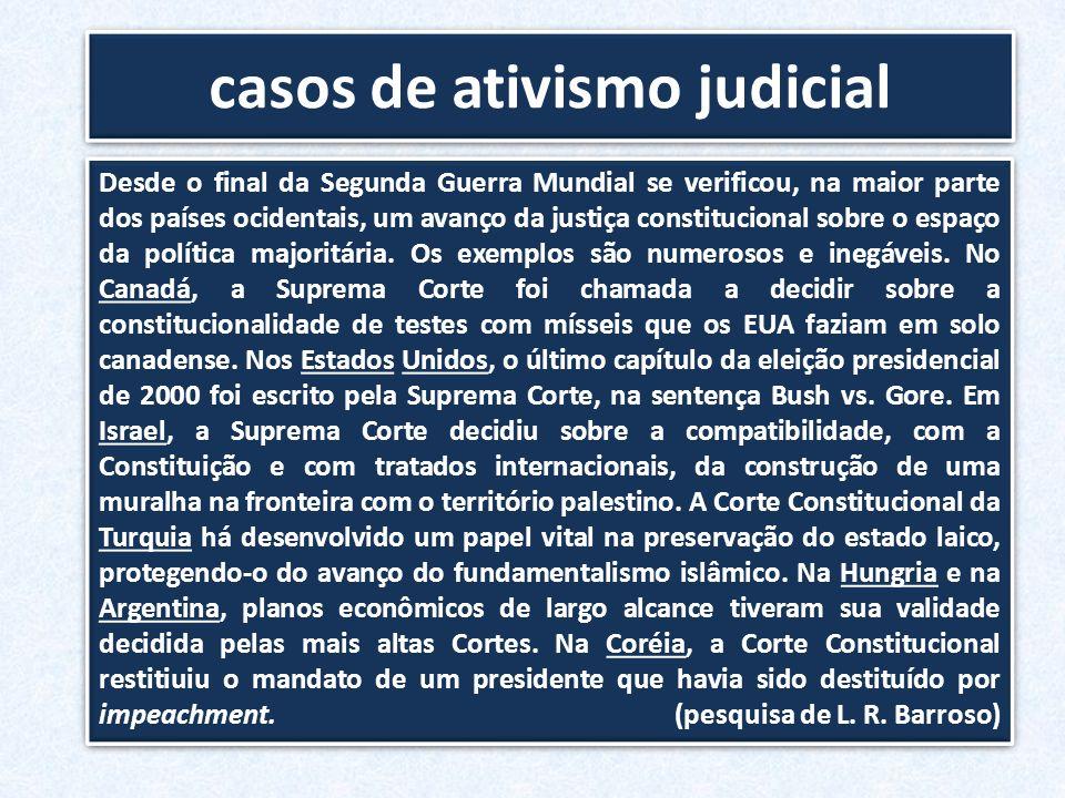casos de ativismo judicial