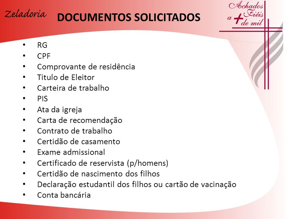 DOCUMENTOS SOLICITADOS