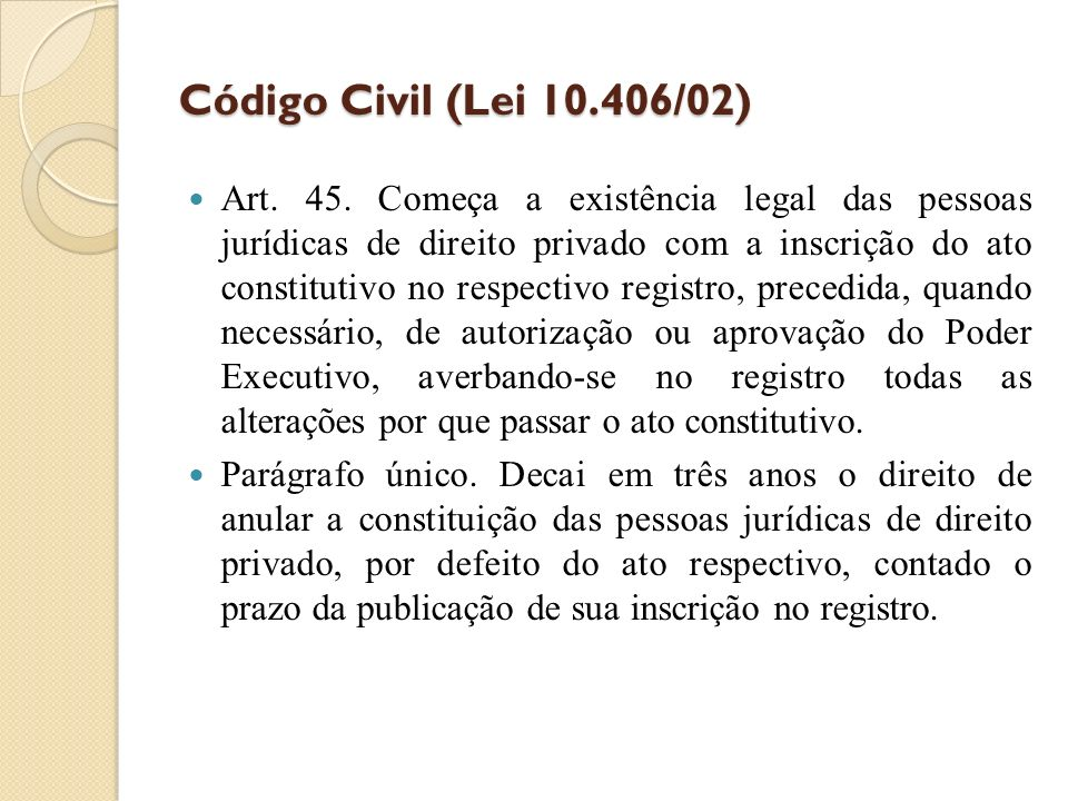 Código Civil (Lei 10.406/02)