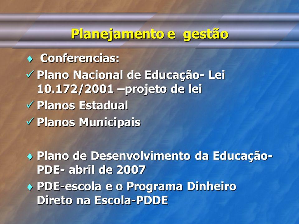 Planejamento e gestão Conferencias: