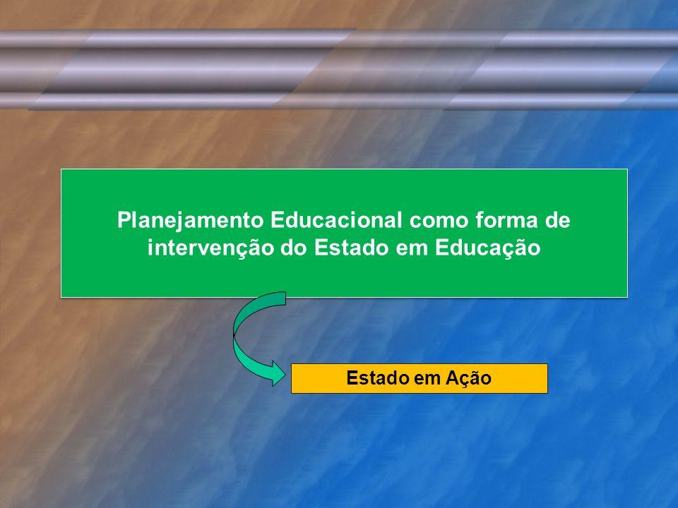 Planejamento Educacional como forma de intervenção do Estado em Educação