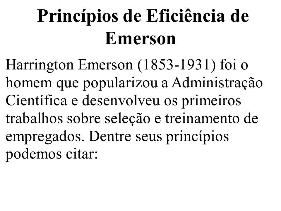 Princípios de Eficiência de Emerson
