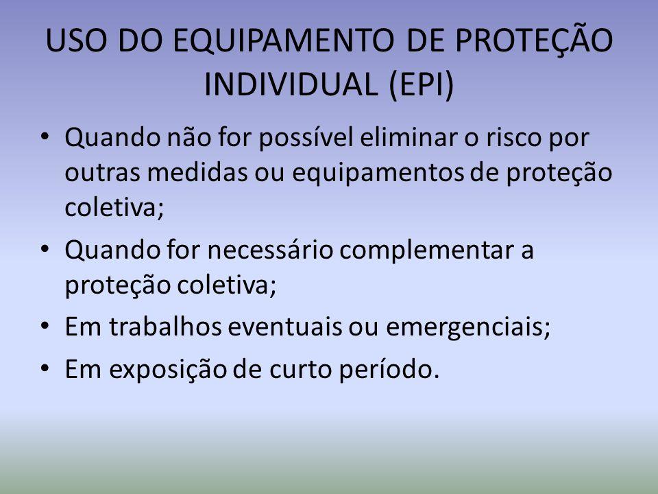USO DO EQUIPAMENTO DE PROTEÇÃO INDIVIDUAL (EPI)