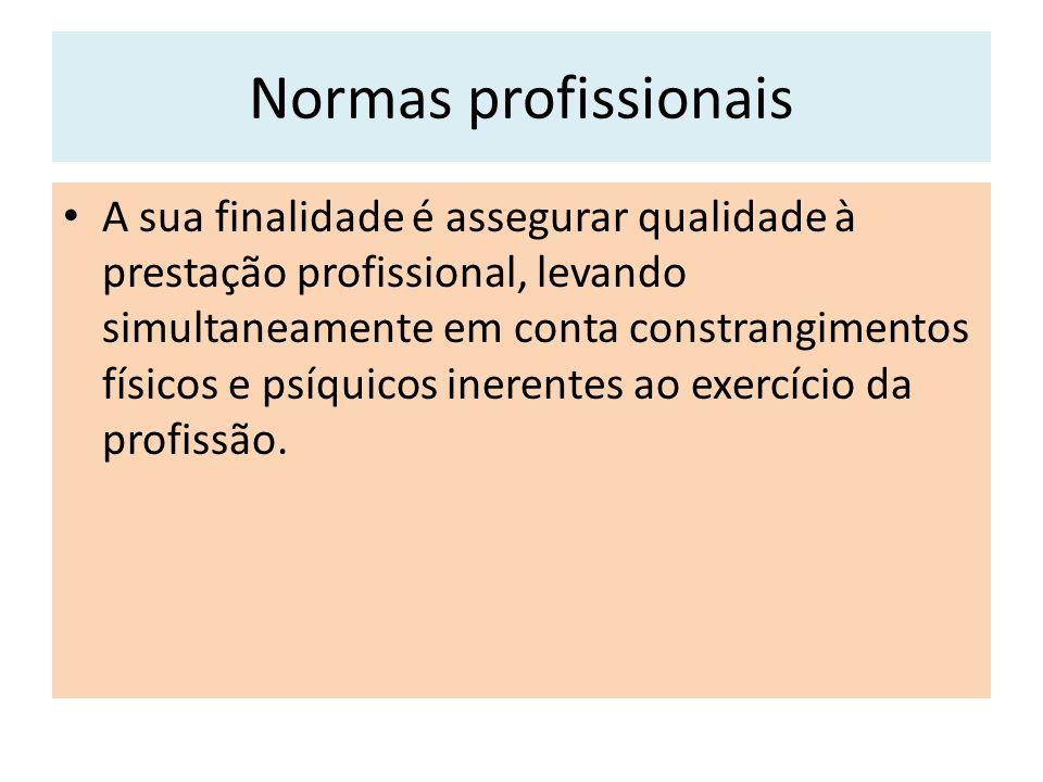 Normas profissionais