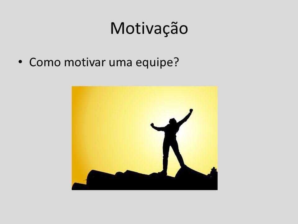 Motivação Como motivar uma equipe
