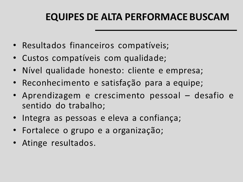 EQUIPES DE ALTA PERFORMACE BUSCAM