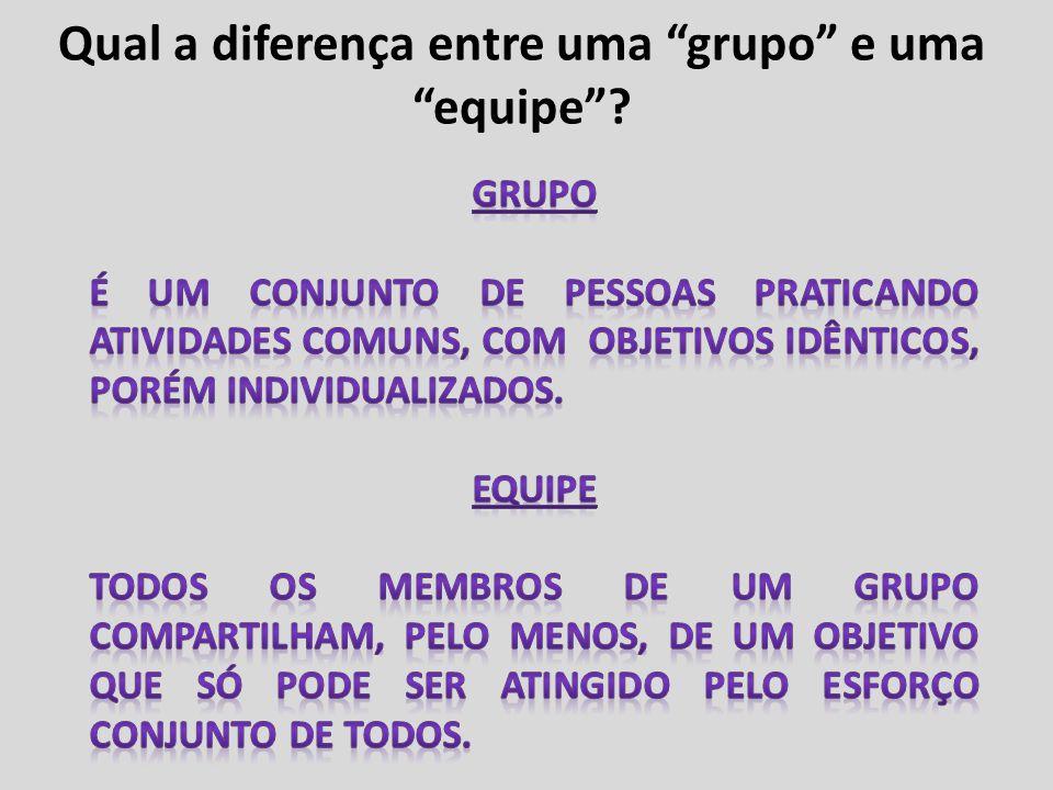 Qual a diferença entre uma grupo e uma equipe