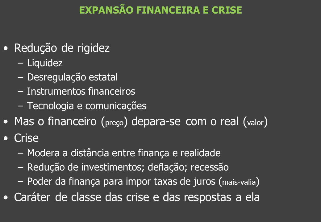 EXPANSÃO FINANCEIRA E CRISE
