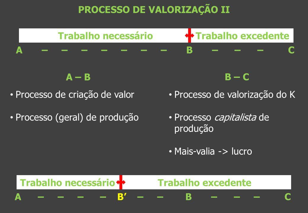 PROCESSO DE VALORIZAÇÃO II