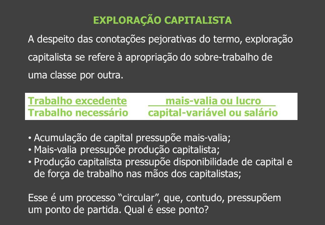 EXPLORAÇÃO CAPITALISTA