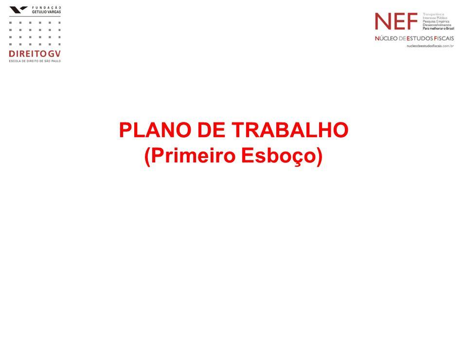 PLANO DE TRABALHO (Primeiro Esboço)