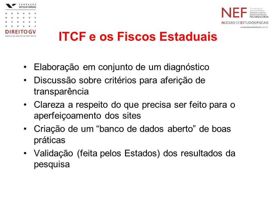 ITCF e os Fiscos Estaduais