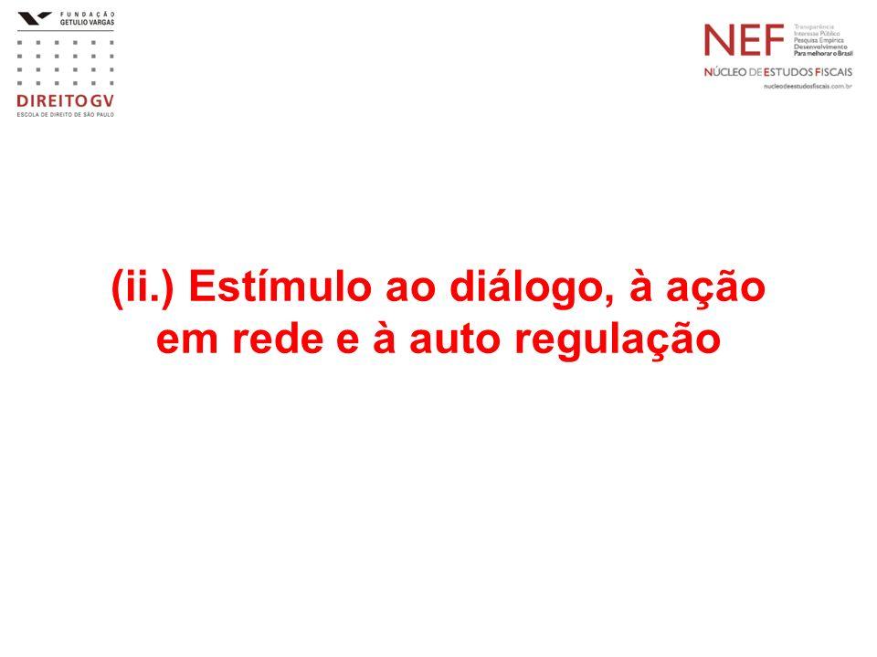 (ii.) Estímulo ao diálogo, à ação em rede e à auto regulação