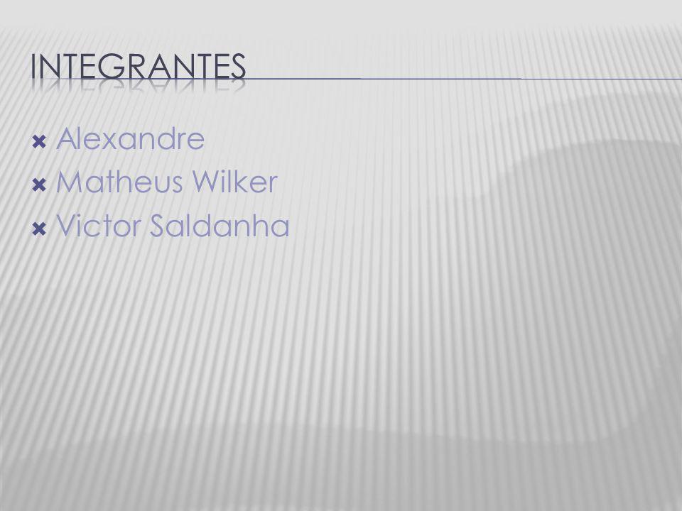 Integrantes Alexandre Matheus Wilker Victor Saldanha