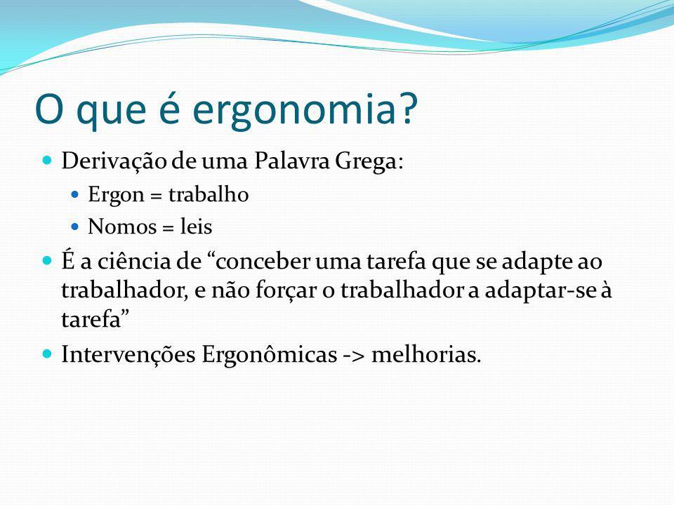 O que é ergonomia Derivação de uma Palavra Grega: