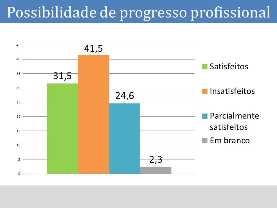 Possibilidade de progresso profissional