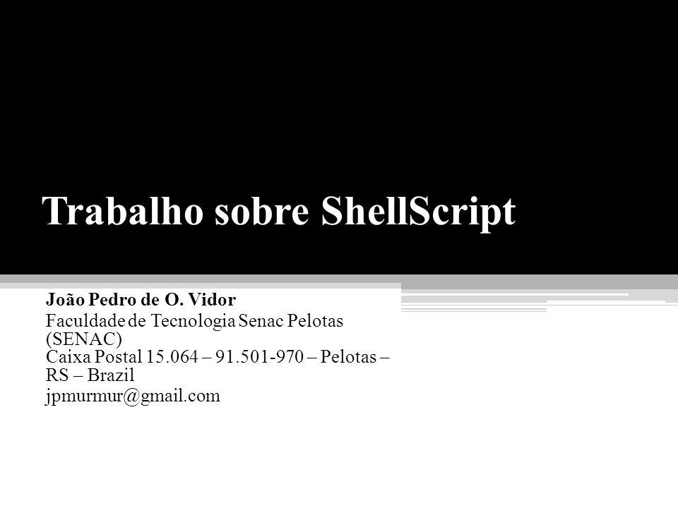 Trabalho sobre ShellScript