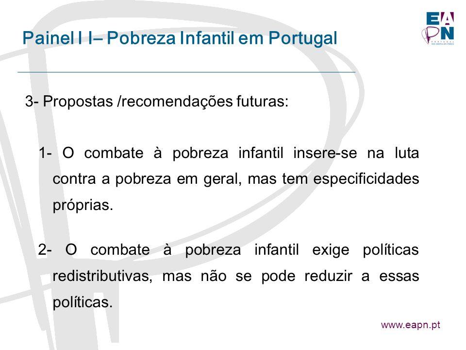 Painel I I– Pobreza Infantil em Portugal