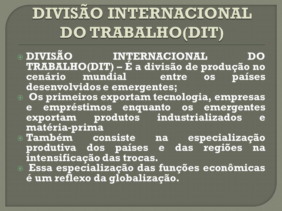 DIVISÃO INTERNACIONAL DO TRABALHO(DIT)