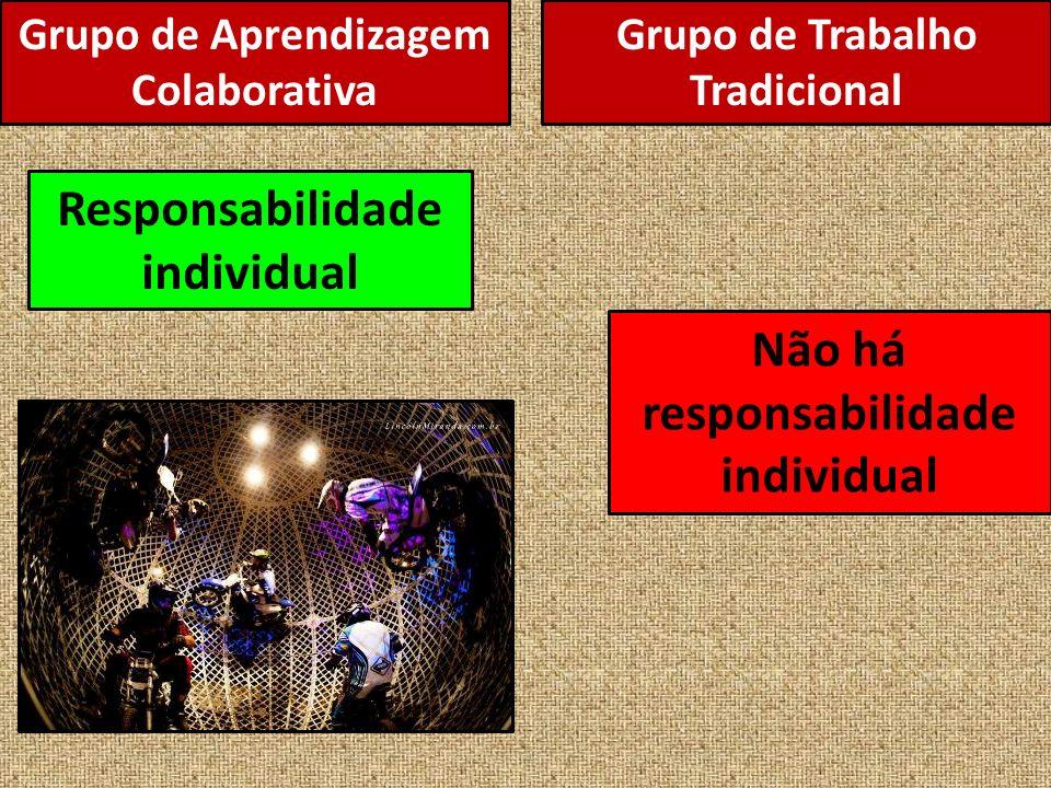 Responsabilidade individual Não há responsabilidade individual