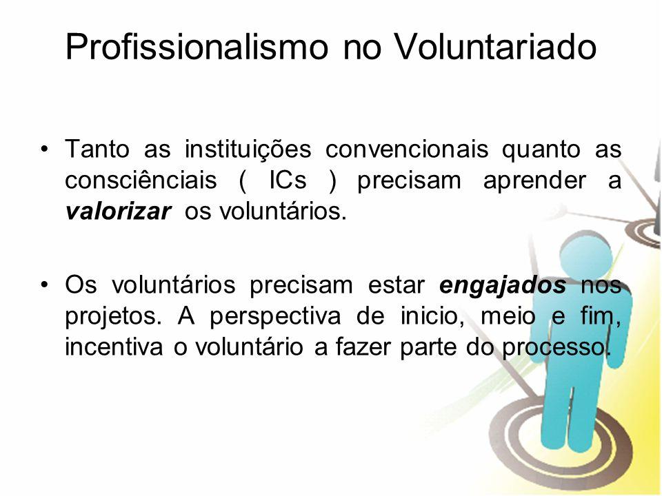 Profissionalismo no Voluntariado