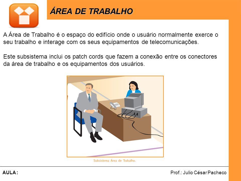 ÁREA DE TRABALHO A Área de Trabalho é o espaço do edifício onde o usuário normalmente exerce o.